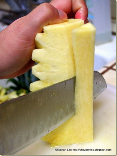 Cutting off the Core of the Pineapple