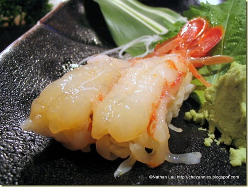 Amaebi (Sweet Freshwater Shrimp) Nigiri from Sushi-Man (San Francisco)