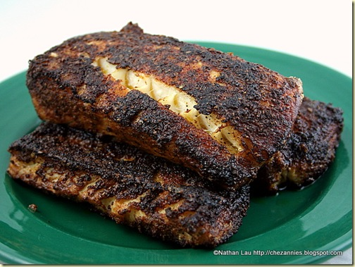 Old Bay Blackened Halibut