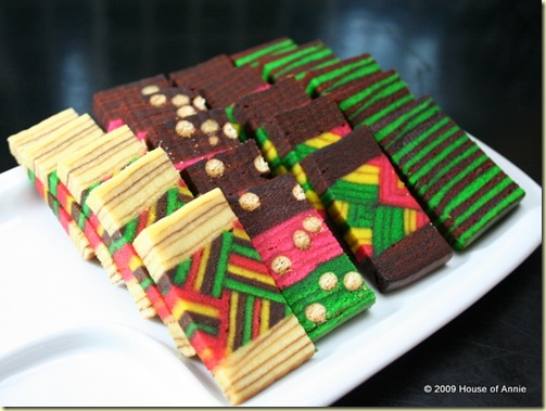 kek lapis sarawak layer cake medley - copyright house of annie