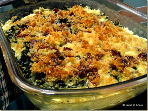 creamy winter greens gratin