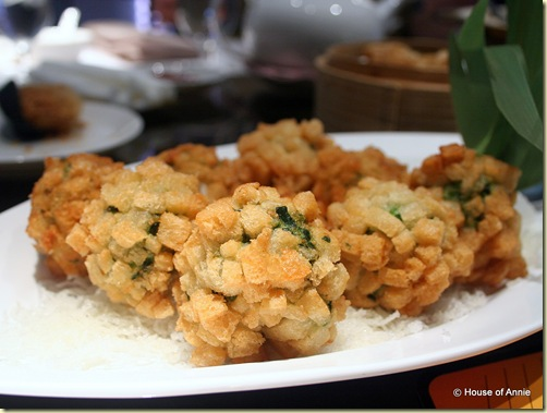 deep fried cheese ball at noble house singapore