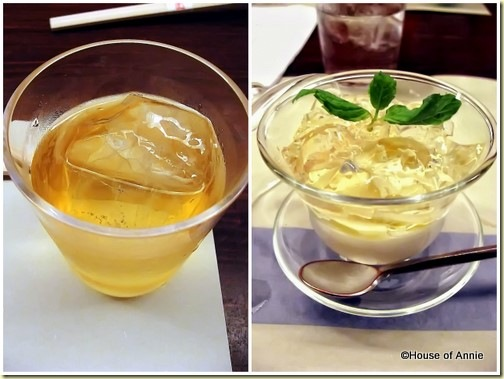 umeshu plum wine and champagne jelly from maru in aoyama
