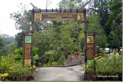 Semenggoh Wildlife Centre entrance gate