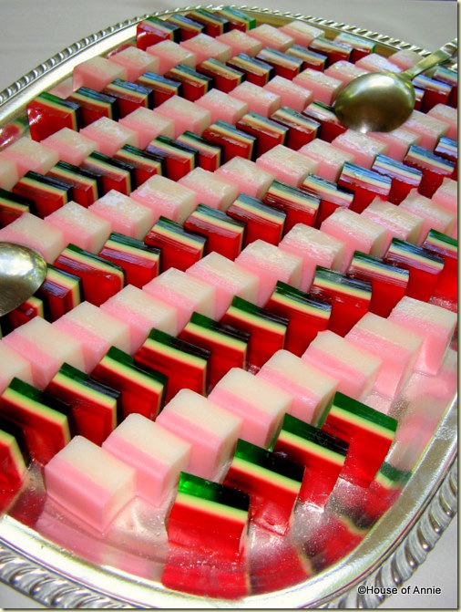 jello layers party tray