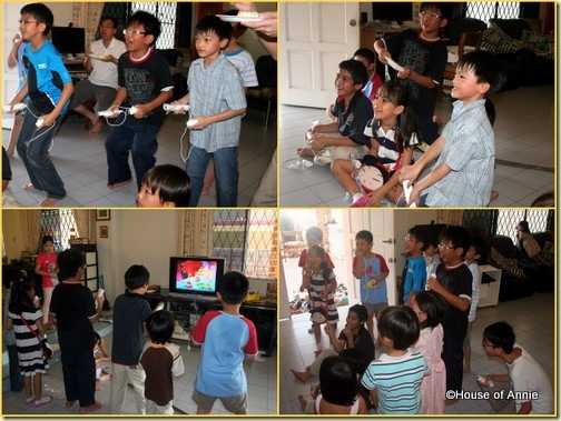 Daniel 9th Birthday Party Wii time