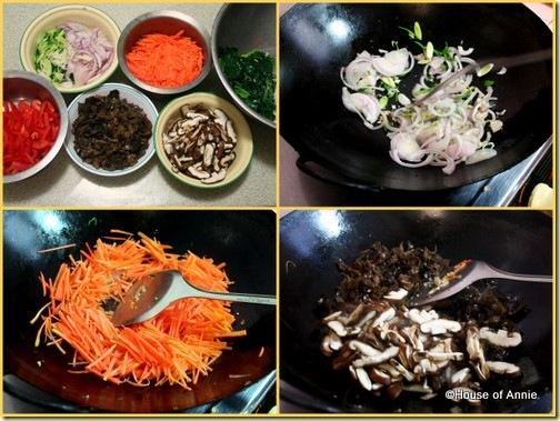 Korean jap chae prep