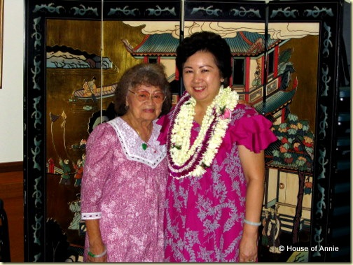 Grandma Lau and my Mom