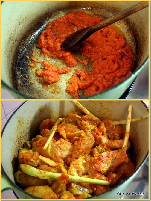 Cooking Assam Chicken Curry