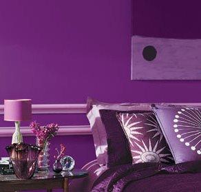 couleur chambre violet