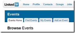 Linkedin events