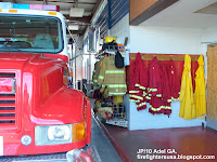 Adel Georgia Fire Department, Pumper No. 4, Coat gear racks, Cook County GA..JPG