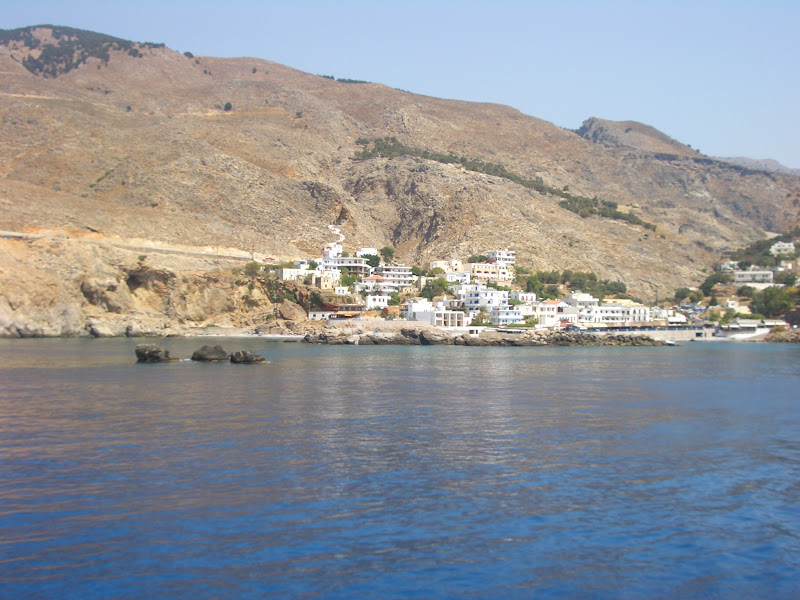Crete town from boat