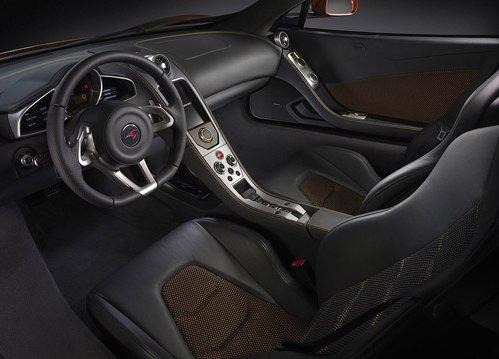 Interior supercar McLaren