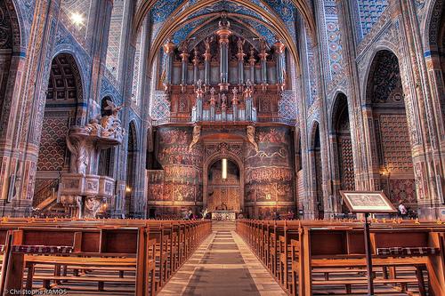 Intérieur de la Cathédrale Sainte-Cécile d'Albi - Photo Christophe Ramos - Flickr