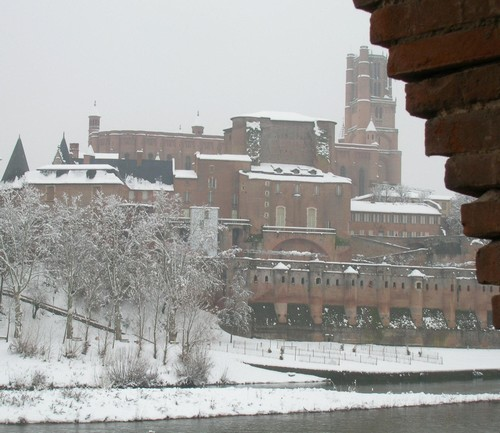 Cathédrale Sainte-Cécile sous la neige - Janvier 2006