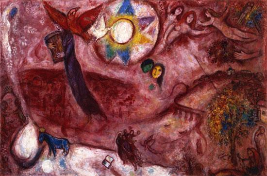 Marc Chagall - Le Cantique des Cantiques V, 1965-1966