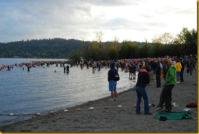 Lake Samammish Triathlon Swim Start