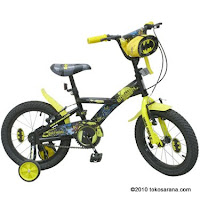 Sepeda Anak WIMCYCLE BATMAN 16 Inci