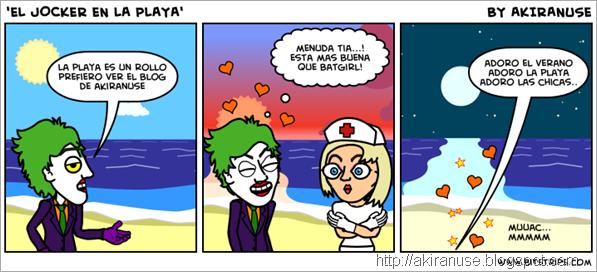 Jocker en la playa