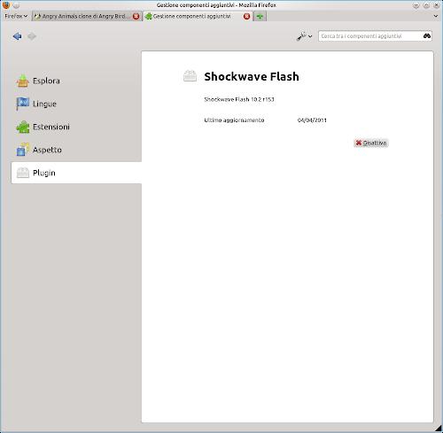 Installare Flash Player su Ubuntu 11.04 Natty