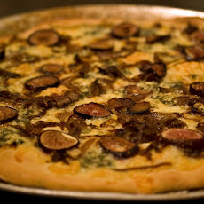 Fresh Fig and Balsamic Onion Pizza with Danish Blue