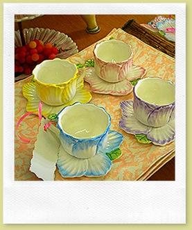 VON TEA CUPS