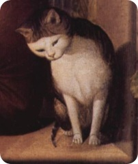 Cat in Porträt des Malers Franz Pforr