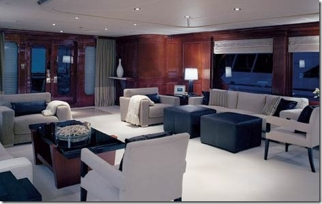 tiger woods yacht interior photo