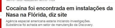 Manchete do G1, da Globo, de 14/01/2010 (Foto: G1 / reprodução)