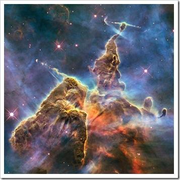 Parte de Eta Carina em foto feita pelo Hubble (Foto via R7)
