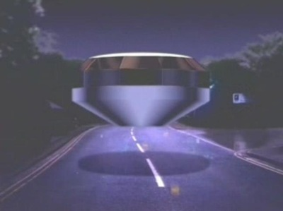 "Simulação do objeto descrito por Alan Godfrey (Foto: ""UFO - Reason to Believe""/Discovery Chennel)"