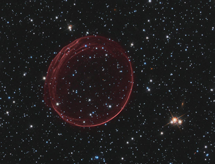 SNR 0509 fotografada pelo Hubble (Foto: Hubble / NASA/ESA)