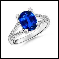 Oval-Blue-Sapphire-and-Diamond-Ring-with-Split-Shank-in-14k-White-Gold-(9x7-mm)_SRW0409SB_Reg