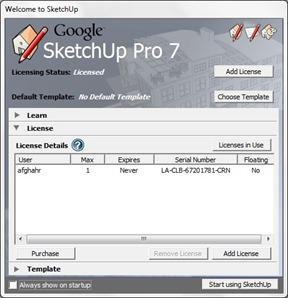 google sketchup 7 pro - license - vmancer