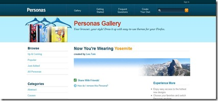 Personas for Firefox - Yosemite