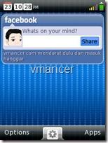 HipLogic Live - interface dengan facebook widget