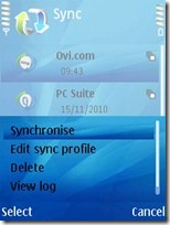 press option then choose synchronize