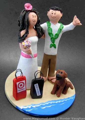 Confessions of a Shopaholic Wedding Cake Topper