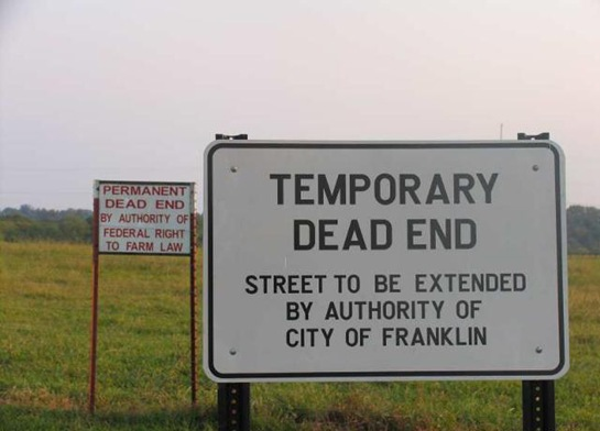 Temporary Dead End