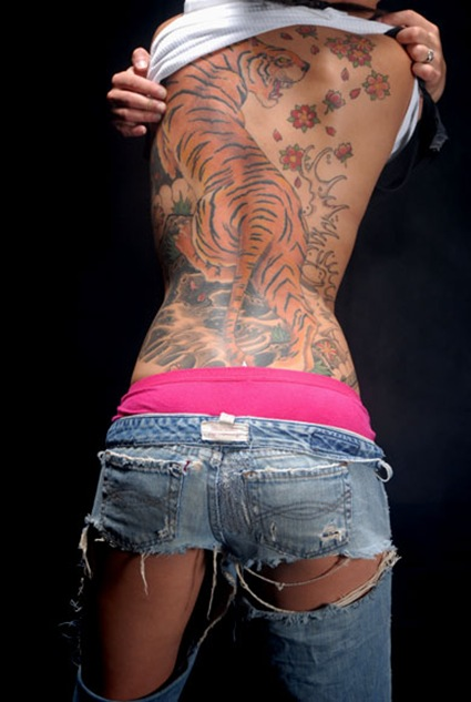 sexy-japanese-back-tattoo-tiger