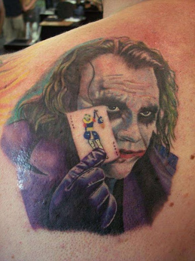 I have 1 angel baby & live in Tennessee Heath Ledger, the joker tattoos.