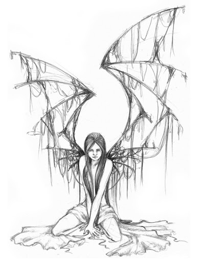 evil angel tattoos. angel tattoo designs pictures
