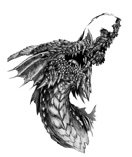 Image of Dragon Tattoo Templates