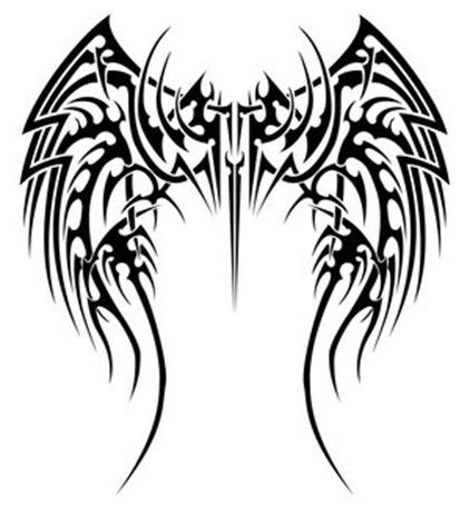 tribal designs tattoos. Cool Angel Wing Tattoo Design