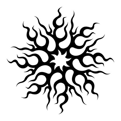Free Tribal Tattoo Designs Sun