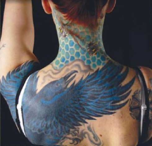 bird tattoo on body image