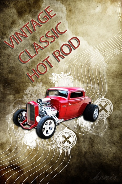 vintage classic hot rod