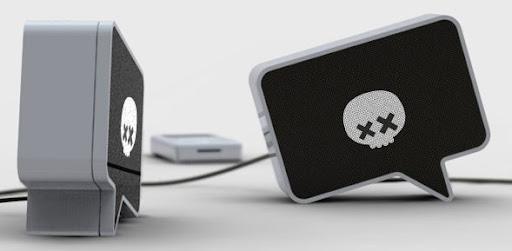 custom speakers, horror speakers, metal speakers, speech bubble, speach bubble