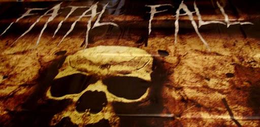 fatal fall, fatalfall, vinyl banner, band banner